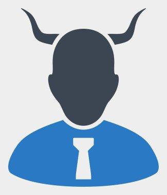 Raster Devil Icon on White Background