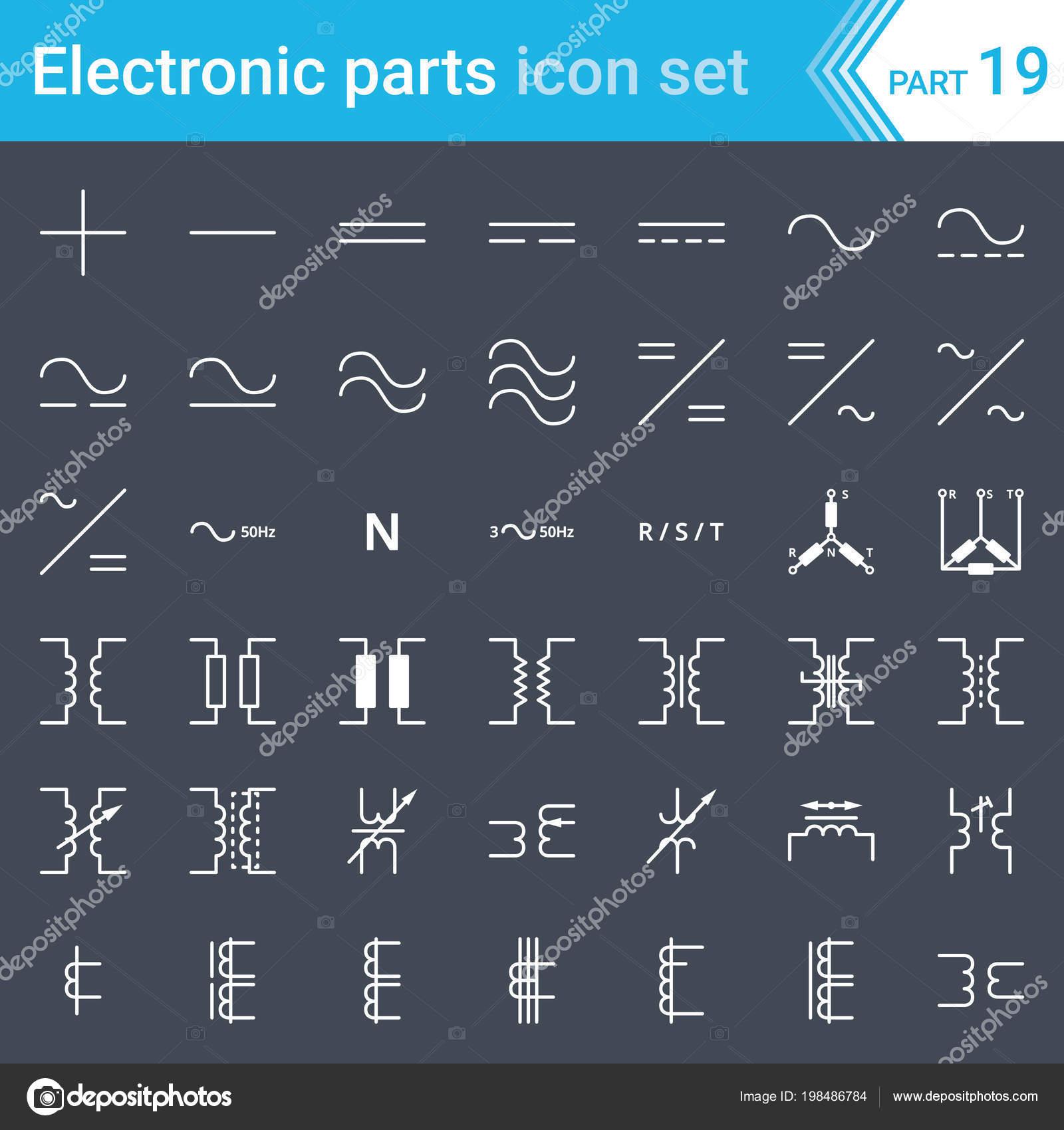 Enjoyable Electric Electronic Icons Electric Diagram Symbols Current Three Wiring Cloud Inamadienstapotheekhoekschewaardnl