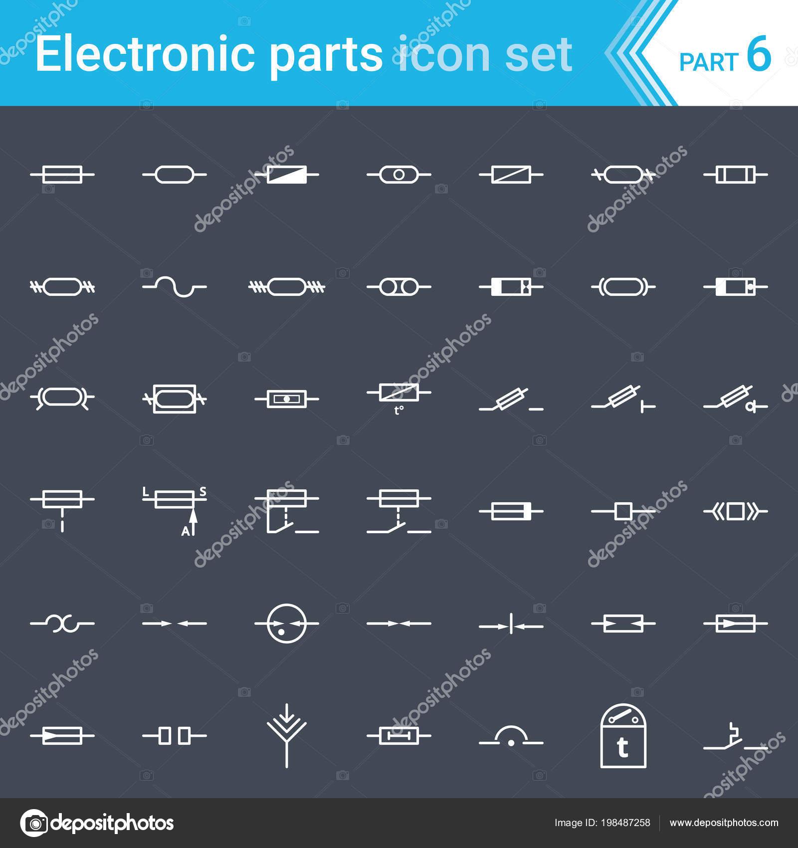 Elektricke Elektronicke Ikony Symboly Elektricke Schema Pojistky