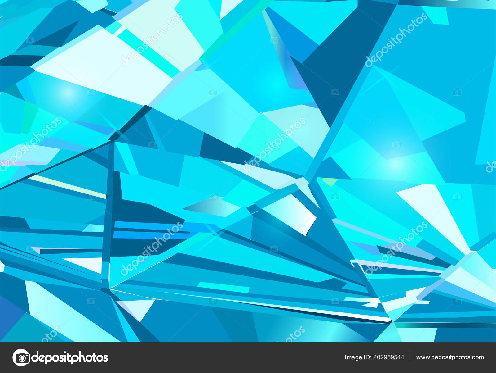 Light Blue Abstract Background Made Blue Crystals Vector