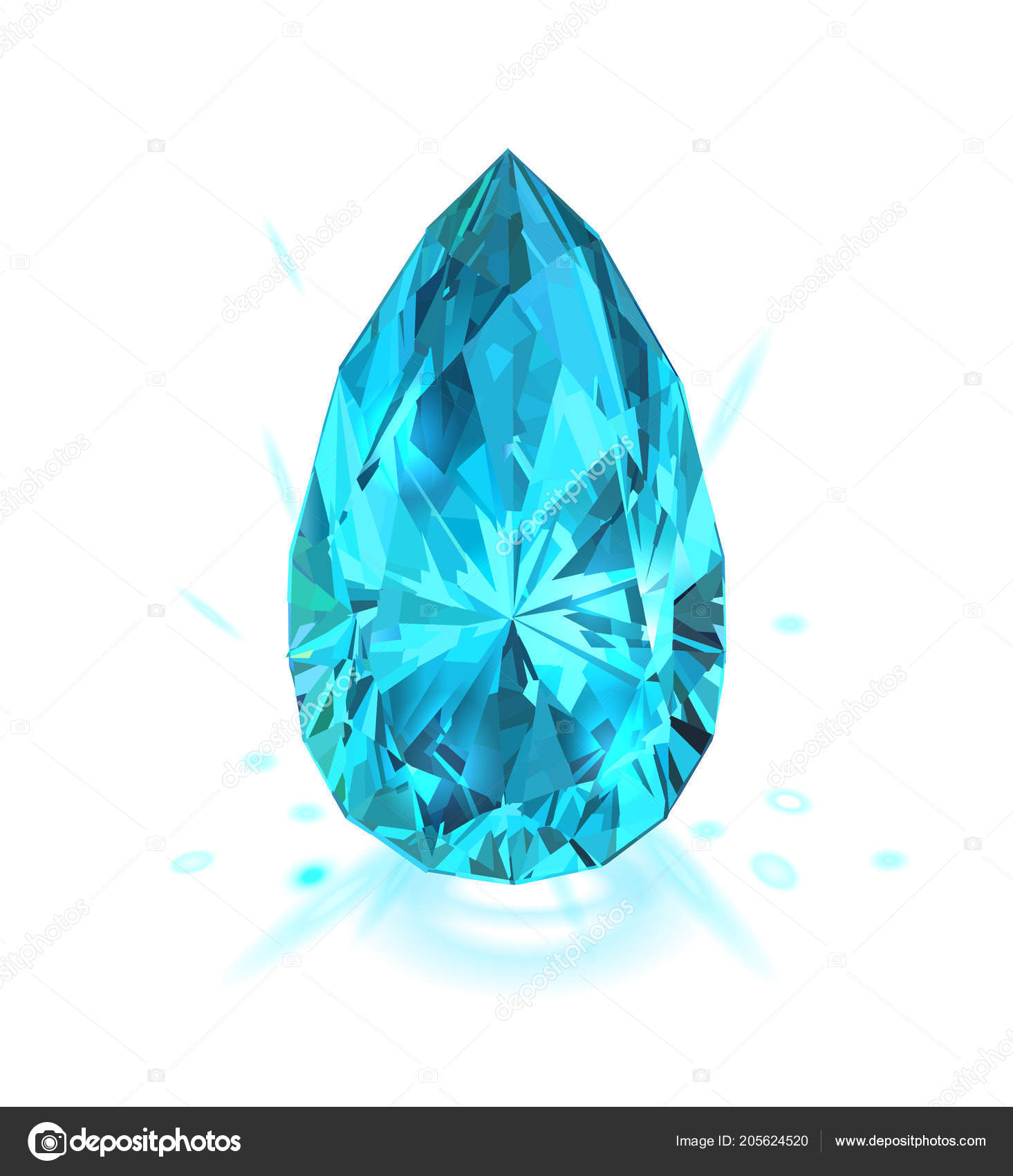 Beautiful Light Blue Bedrooms: Beautiful Light Blue Gem Sapphire Isolated White