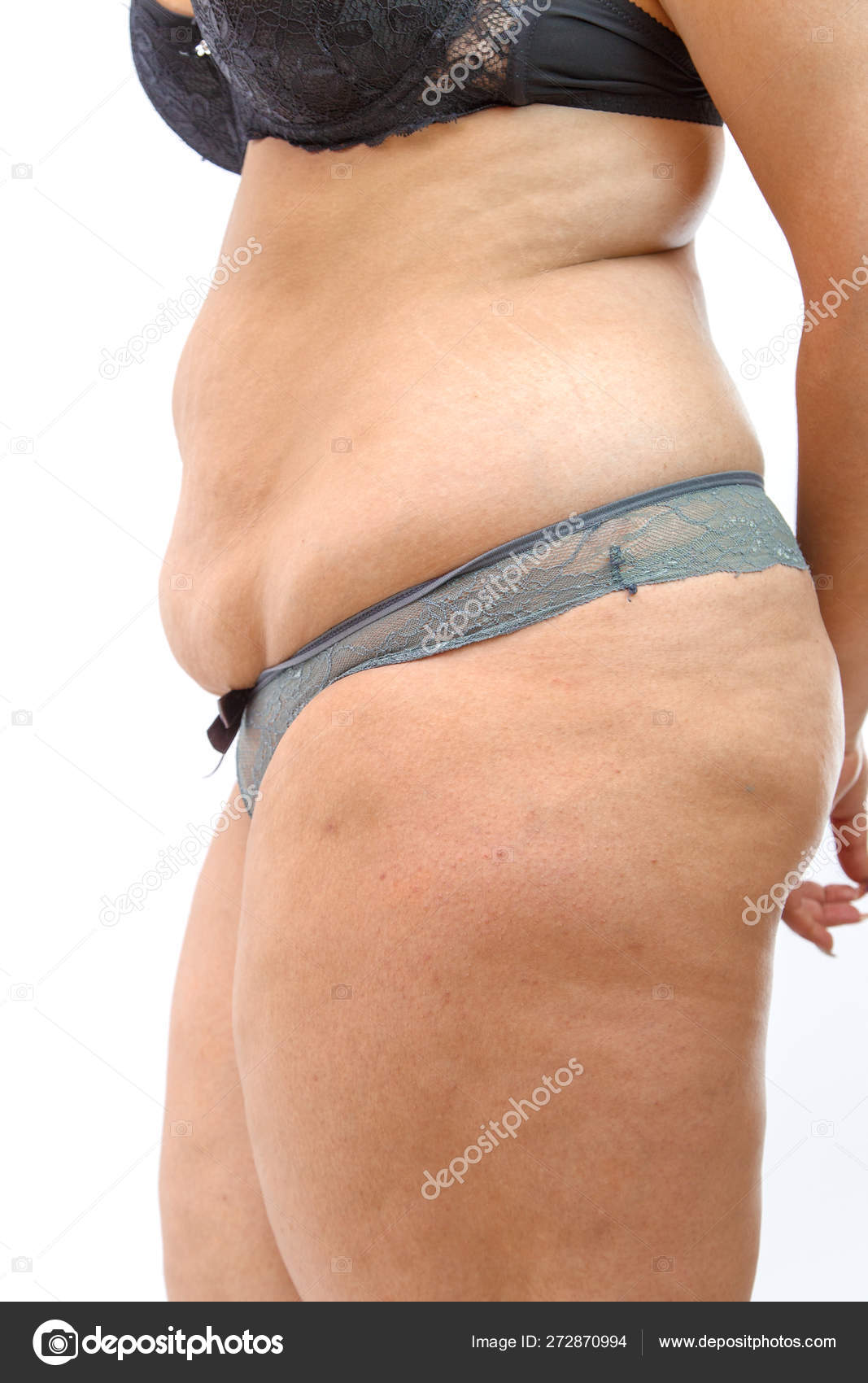 Big Belly And Cellulite Fat Legs Of Overweighted Woman Isolated Stock Photo C Ajphotos 272870994
