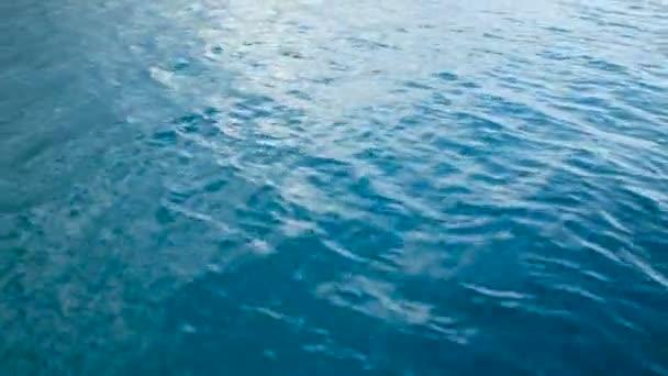 repülés során a kék tenger, a közeli felülnézet
