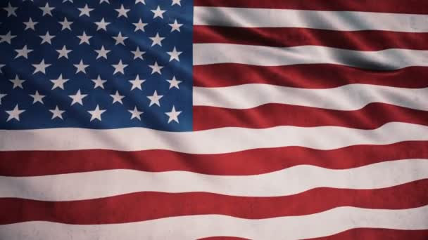 American Flag 3d Animation (close-up)