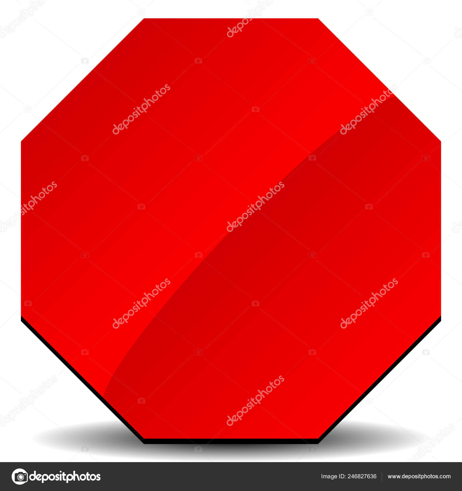 Red Road Sign Stop Sign Clip Art White Stock Vector C Vectorguy