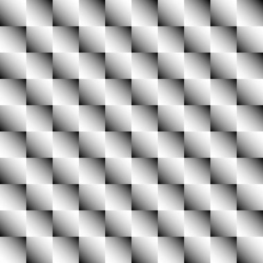 Series of abstract seamless patterns with squares. Vector.