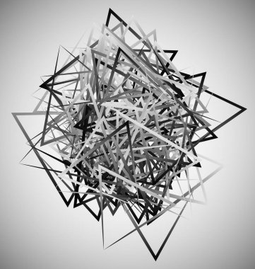 Abstract geometric shapes. Contemporary art made of angular tria