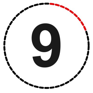 Numbers, numerals dial illustration. Time, duration and schedule concept icon. Turnaround time (TAT) icon. Counter, countdown vector icon