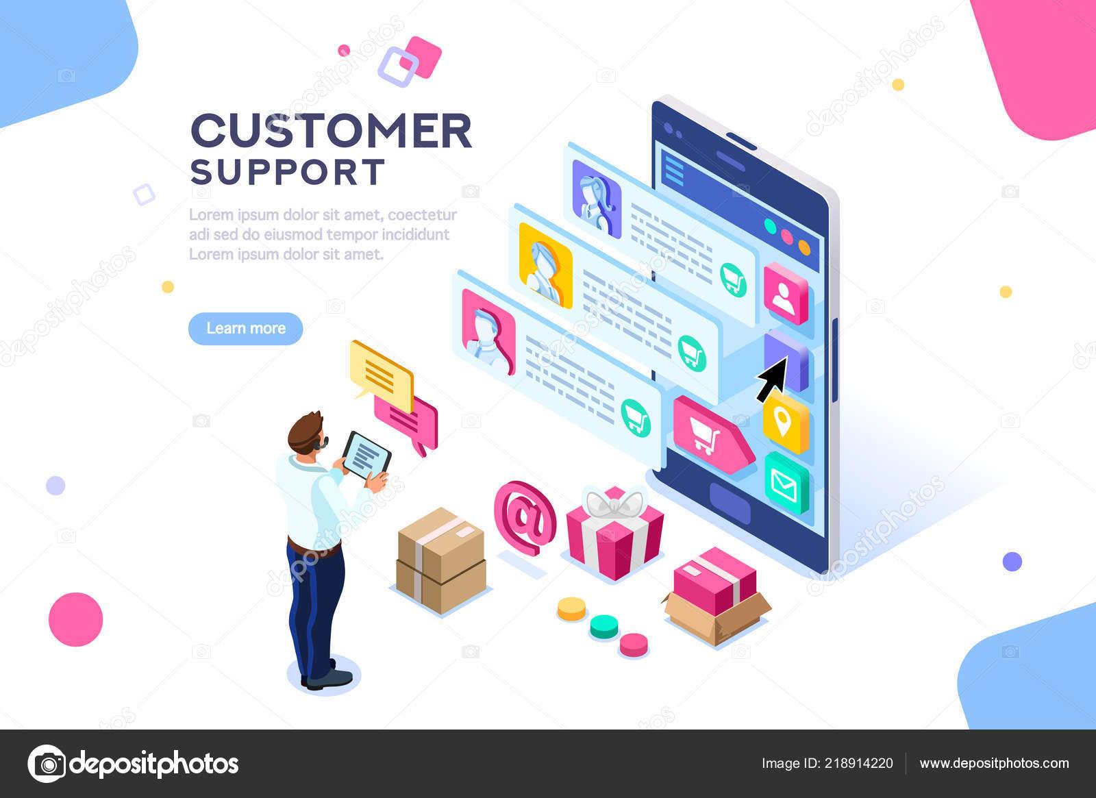 Commerciele Ondersteuning Voor Klant Transactie Website Consument