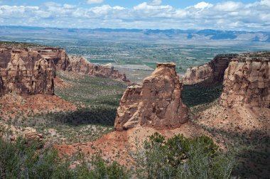 Independence Monument a landmark rock formation in the Colorado National Monument