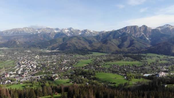 Zakopane aerial summer panorama video 4k Drone Poland Landscape
