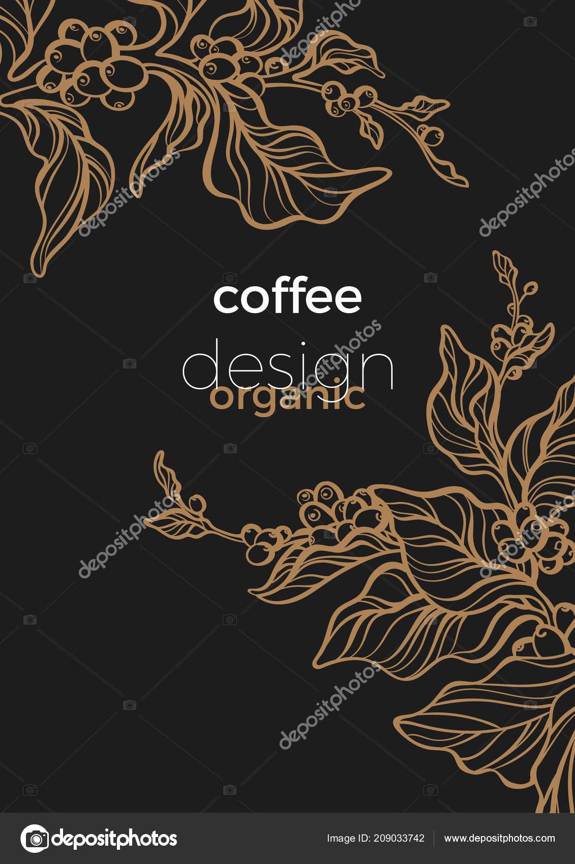 vector retro template art deco design banner realistic branch coffee