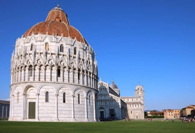 Great view of Square of Miracles in Pisa City in Tuscany Region in Italy