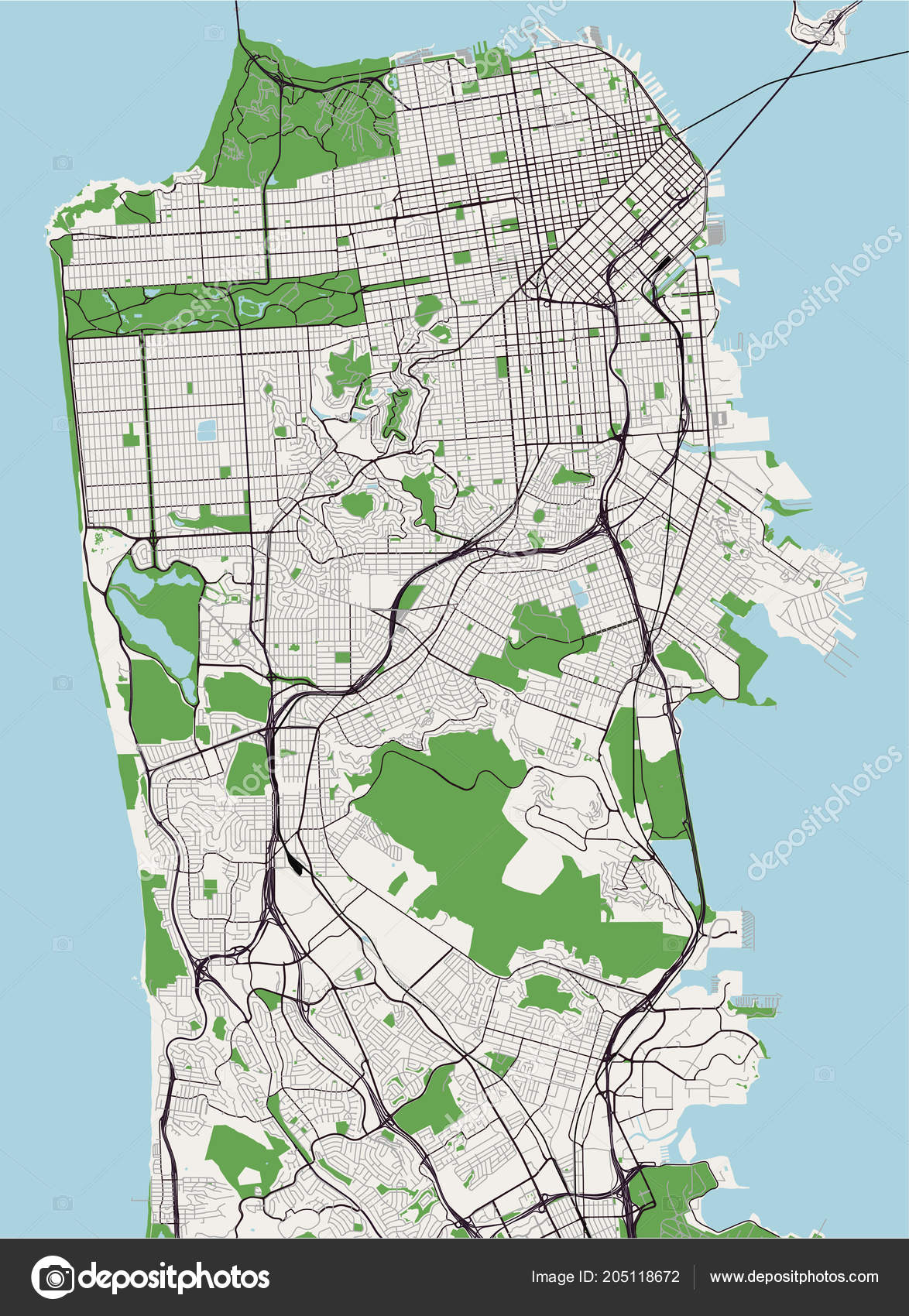 Vector Map City San Francisco Usa — Stock Vector © tish11 ... on arcadia map, lodi map, chicago map, berkeley map, california map, vacaville map, costa mesa map, los angeles map, bakersfield map, richmond map, redlands map, glendale map, pleasanton map, union city map, sunnyvale map, newark map, yuba city map, sherman oaks map, bloomington map, golden gate state park map,