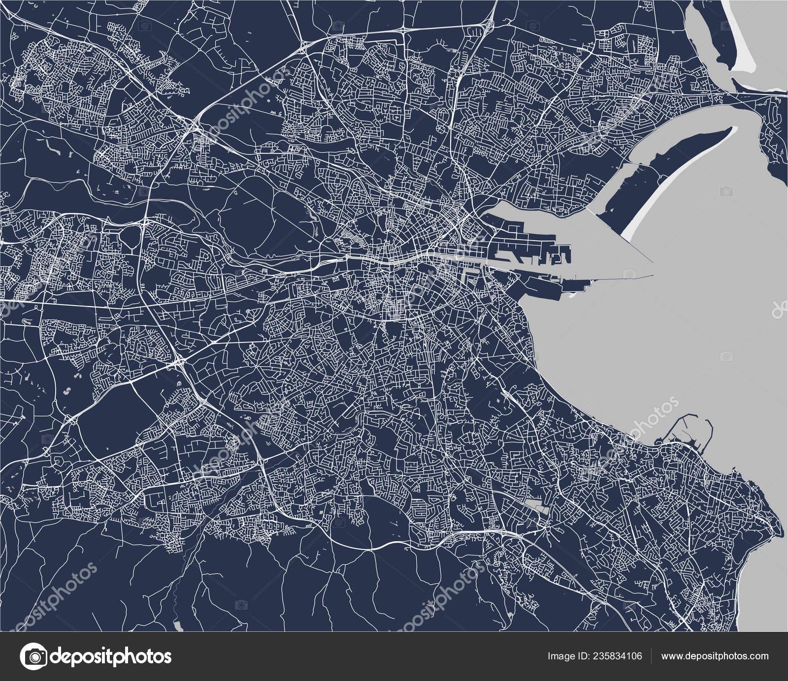 Vector Map City Dublin Ireland — Stock Vector © tish11 ...