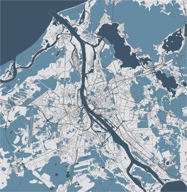 map of the city of Riga, Latvia
