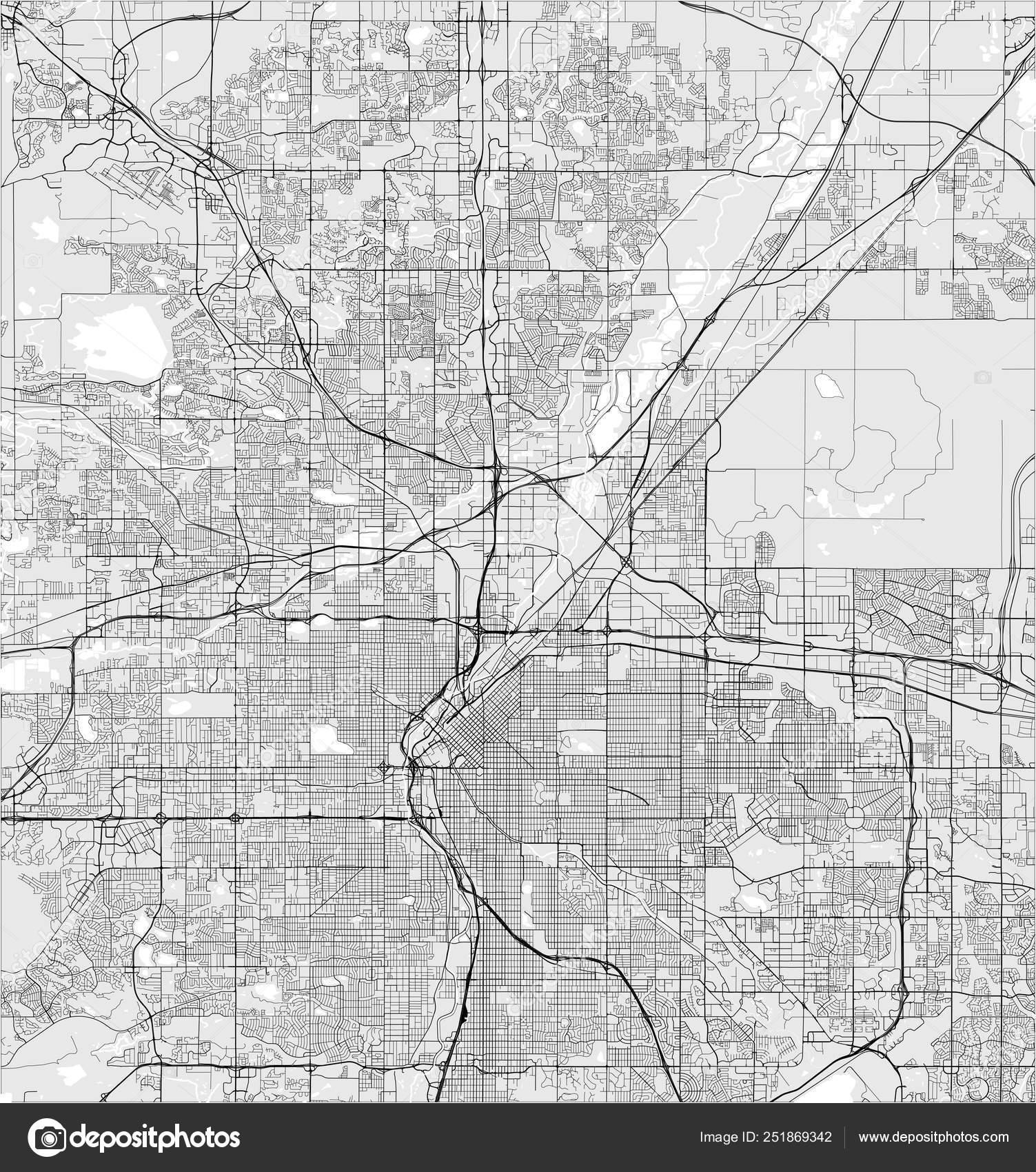 Map of the city of Denver, Colorado, USA — Stock Vector © tish11 Denver Colorado Usa Map on