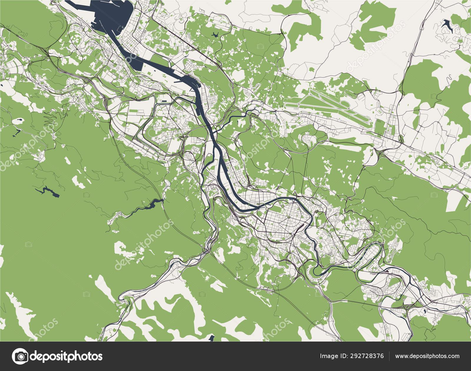Mapa De Bilbao España.Mapa De La Ciudad De Bilbao Espana Archivo Imagenes