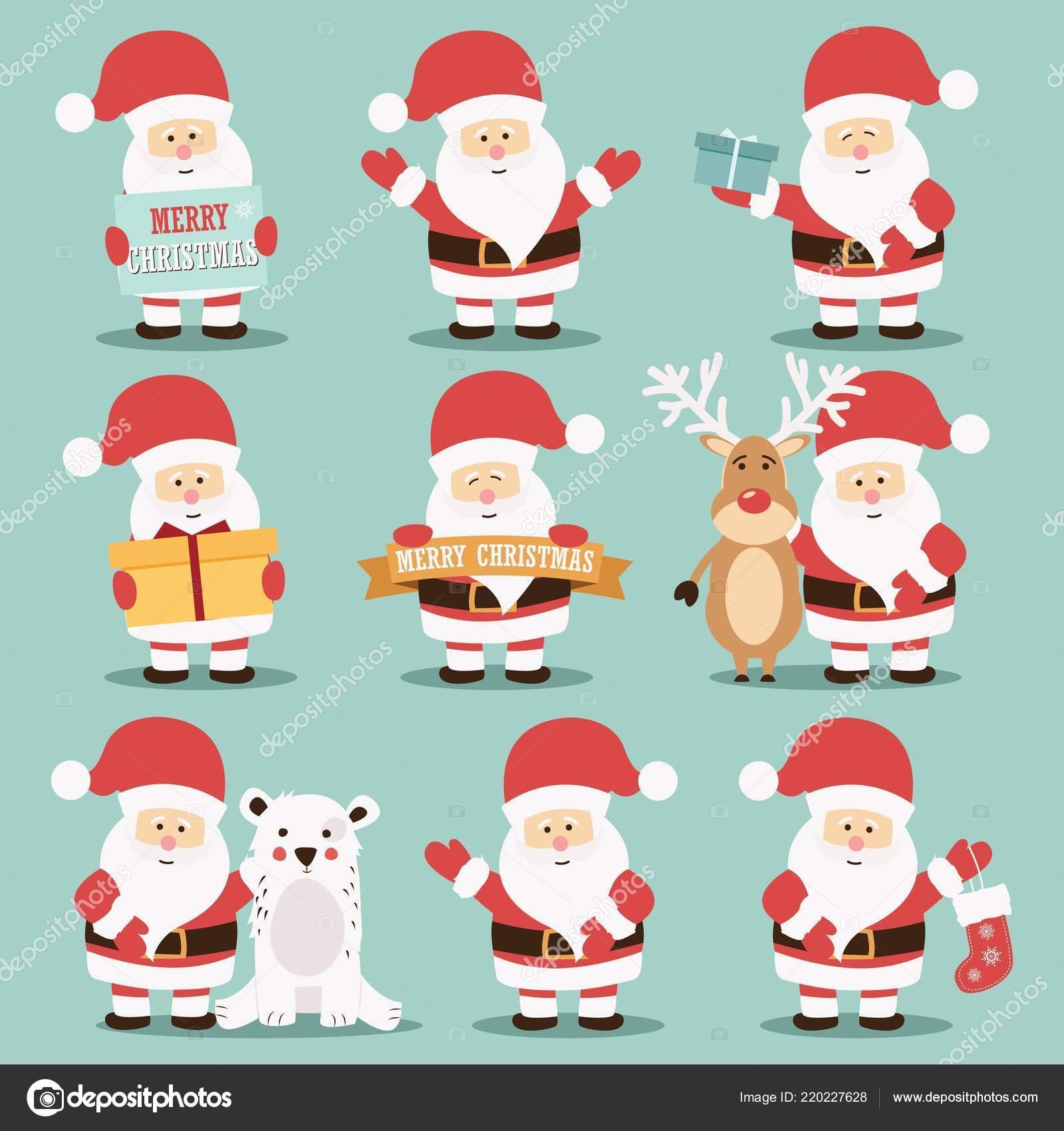 Immagini Simpatiche Di Babbo Natale.Illustrazione Babbo Natale Simpatiche Raccolta Simpatici
