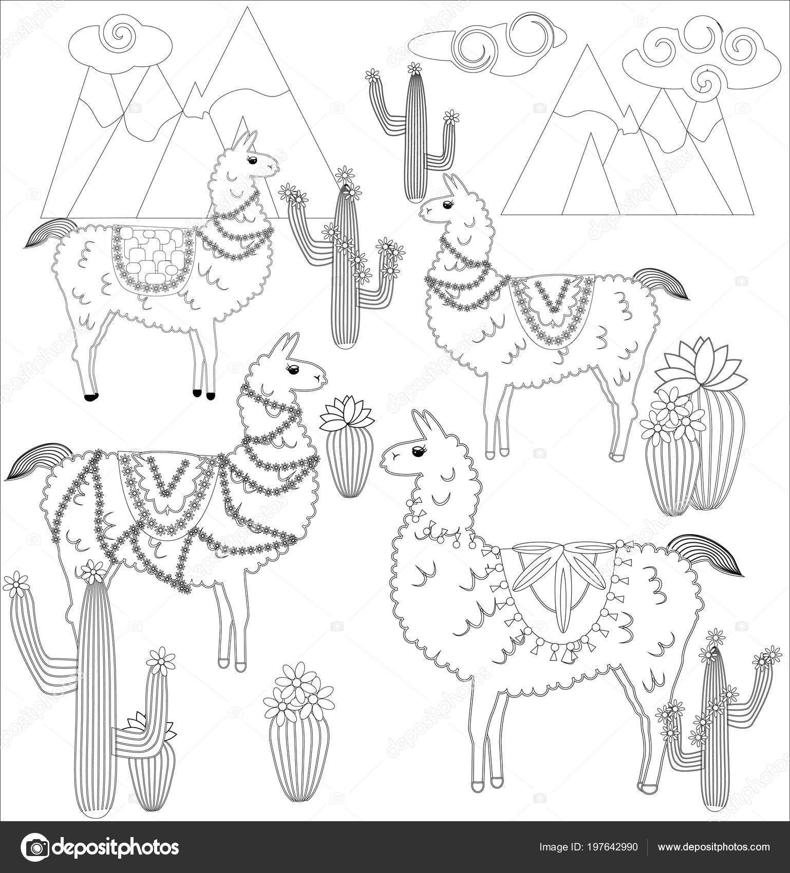 potencialis: lama malvorlagen