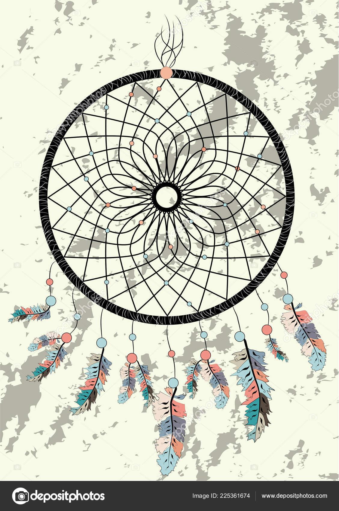 Dream Catcher Boho Talisman Indien Amérindien Dreamcatcher