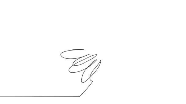 continuous single drawn one line daisy hand-drawn picture silhouette. Line art.