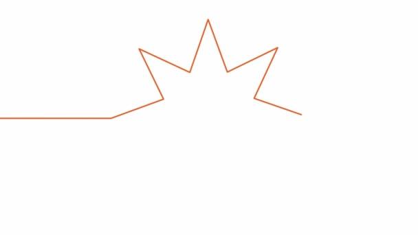 Vlastní kreslení jednoduché animace jedné souvislé kresby jedné linie osmicípé hvězdy.