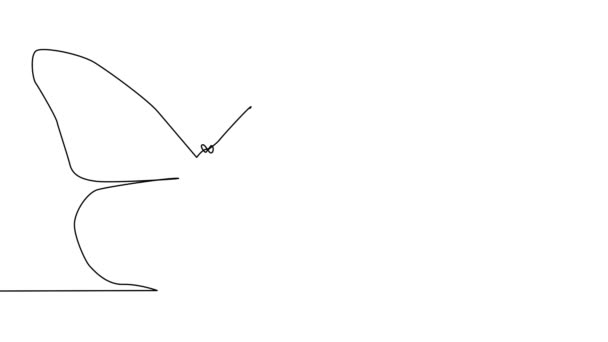 Önrajz egyszerű animáció egy folyamatos egyvonalas rajz pillangó.