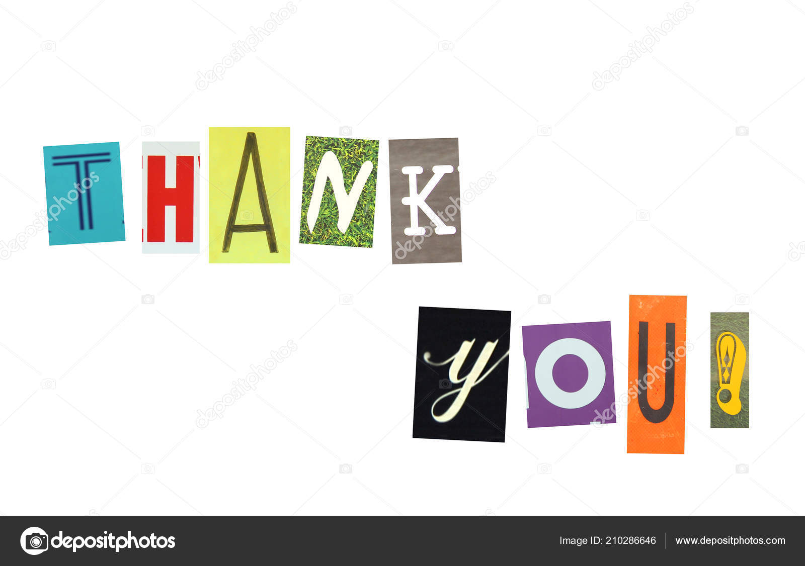 Thank you words made colorful newspaper letters cut out isolated thank you words made colorful newspaper letters cut out isolated stock photo spiritdancerdesigns Choice Image