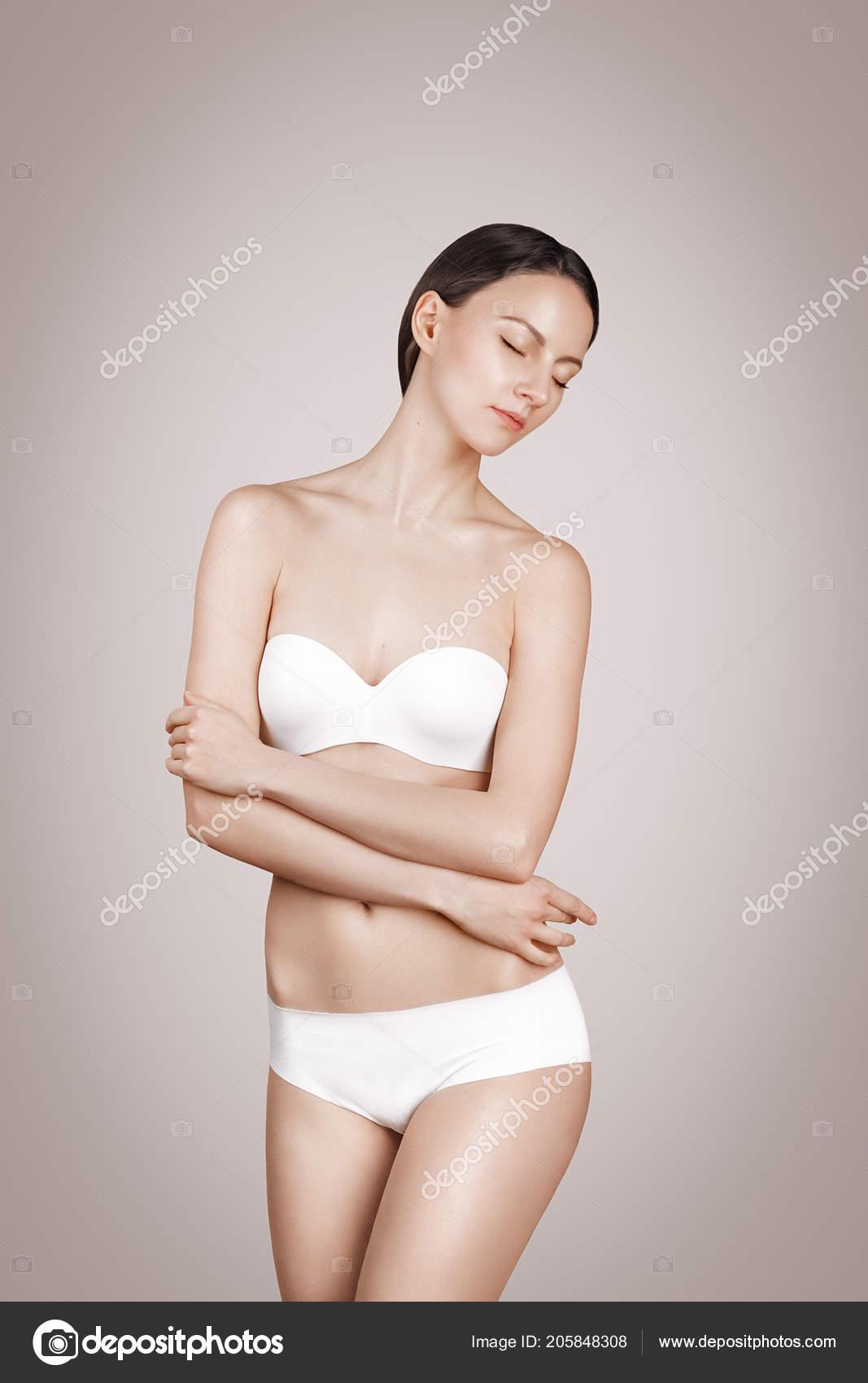 4613d5e5c Moda Mulher Roupa Roupa Interior Roupa Banho Biquíni Preto Teste —  Fotografia de Stock