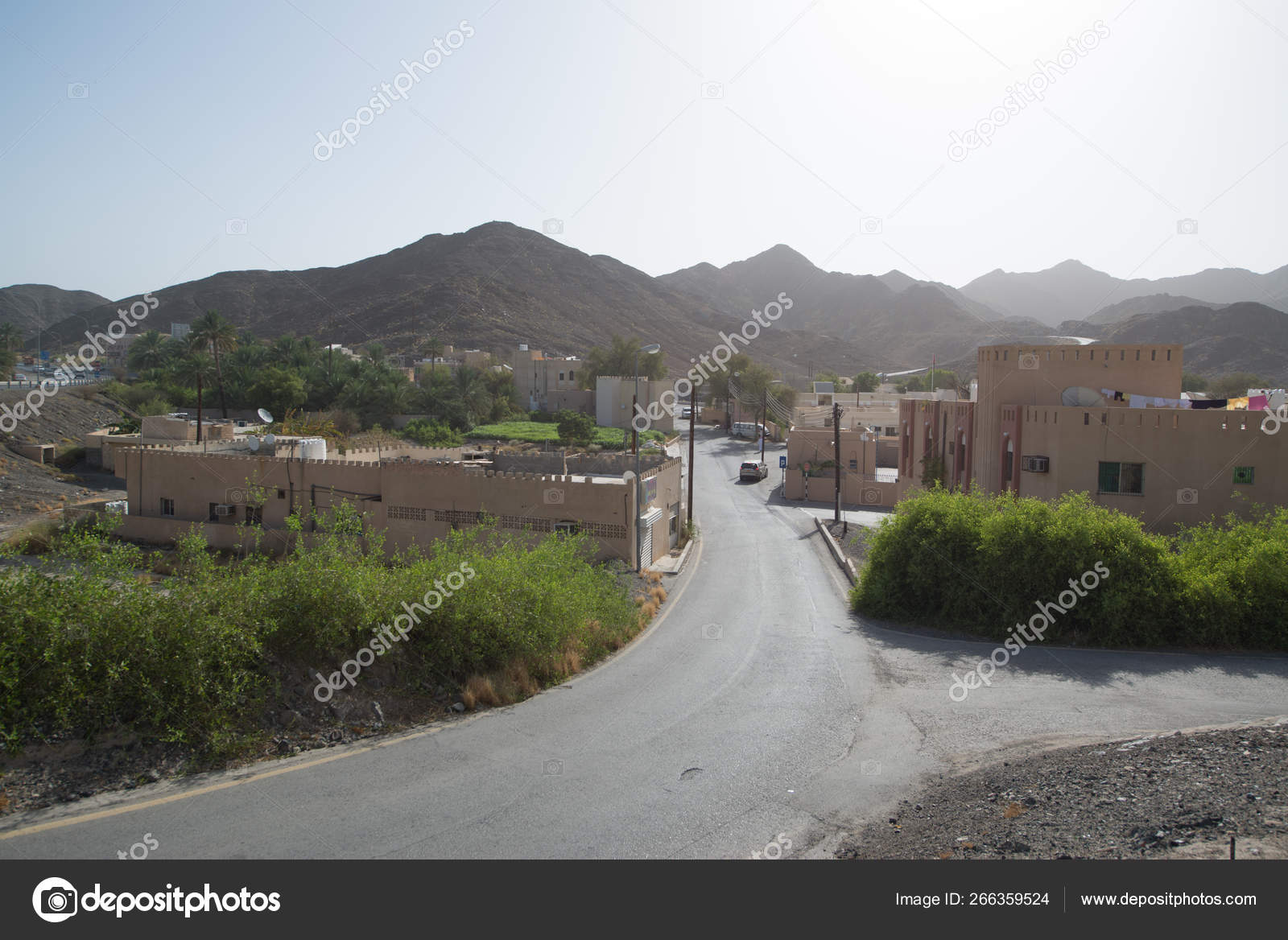Buildings Situated Desert Country Oman Capital City Muscat — Stock