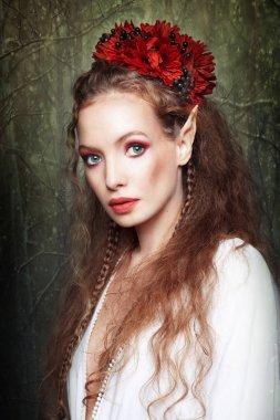 Portrait of beautiful  elf girl
