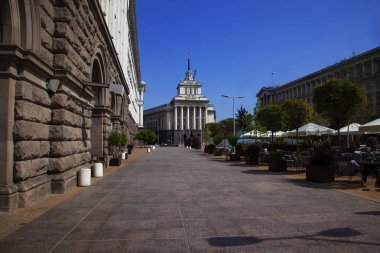 SOFIA, BULGARIA - SEPTEMBER 1, 2018: view of office house of National Assembly of Bulgaria