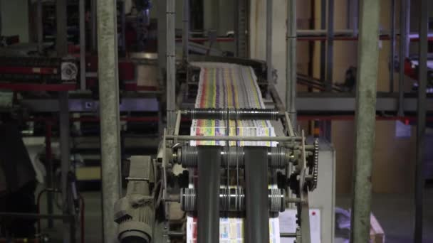 Newspaper printing process in printing house. The circulation of the New newspaper is printed and Packed