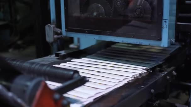 Newspaper printing process in printing house