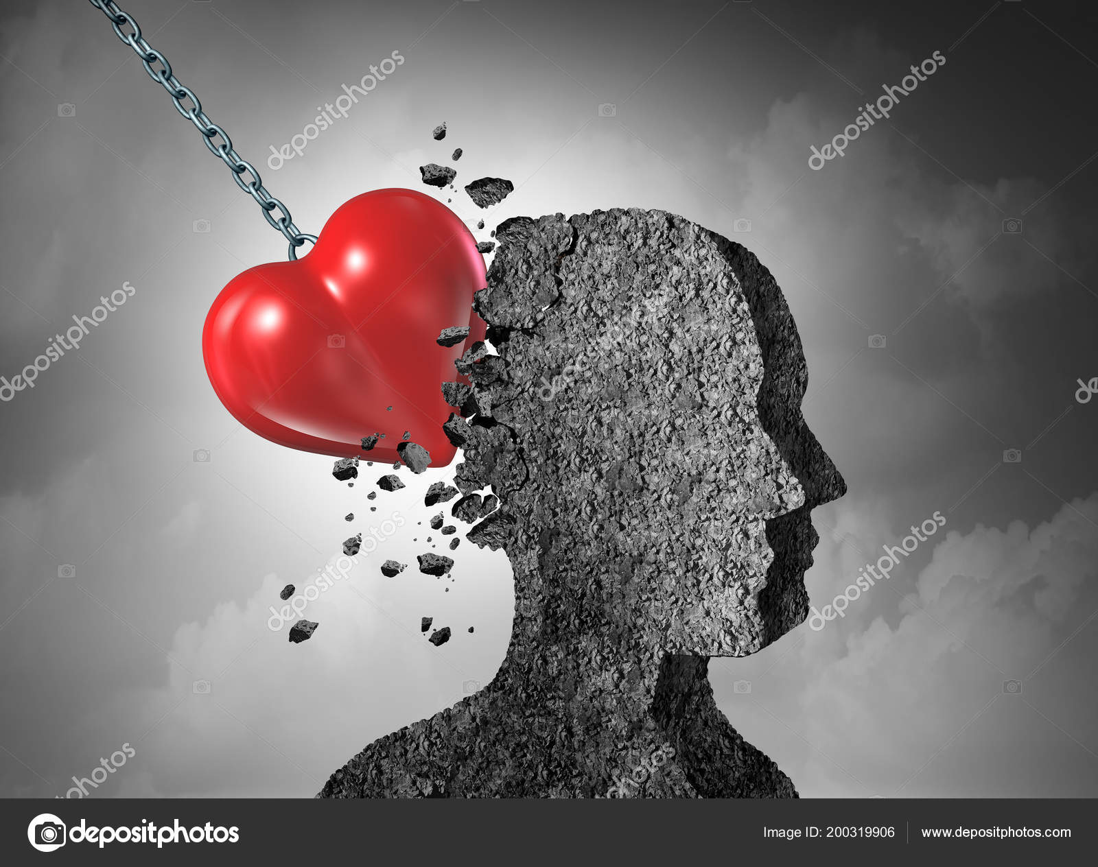 Pictures Painful Love Love Pain Broken Hearted Psychology Relationship Concept Illustration Stock Photo C Lightsource 200319906