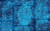 Fotografia Dati utente privacy come una tecnologia di protezione di informazioni riservate personali astratto come un social media e profilo pubblico condivisione dello stile di vita come le impronte digitali diverse nello stile di illustrazione 3d