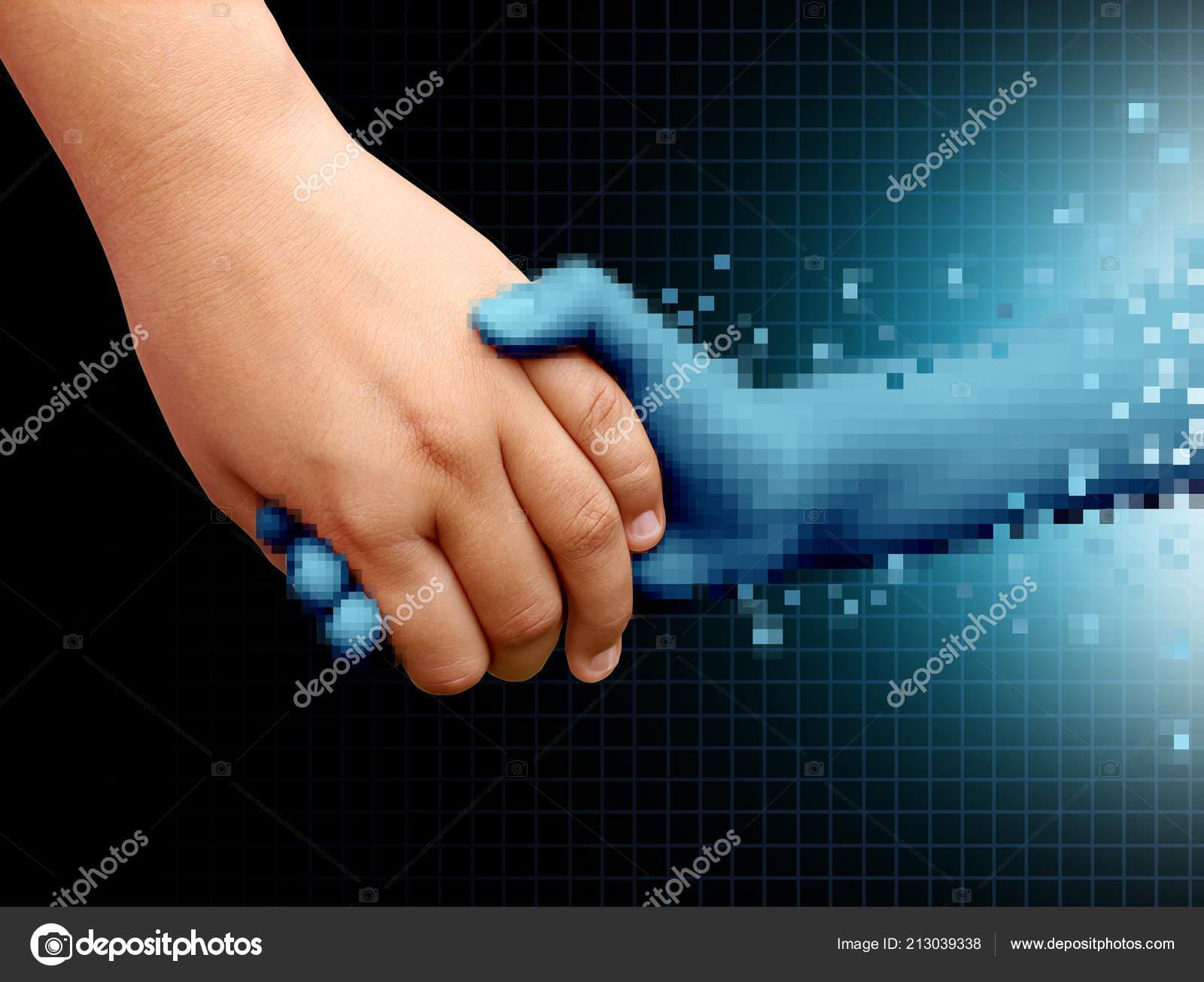 Online Friend Virtual Interactive Friendship Concept Social Media