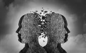 Sociální konflikty a špatný vztah jako emocionální dopad způsobuje psychické poškození nebo bolestivé pocity ve stylu 3d obrázek.