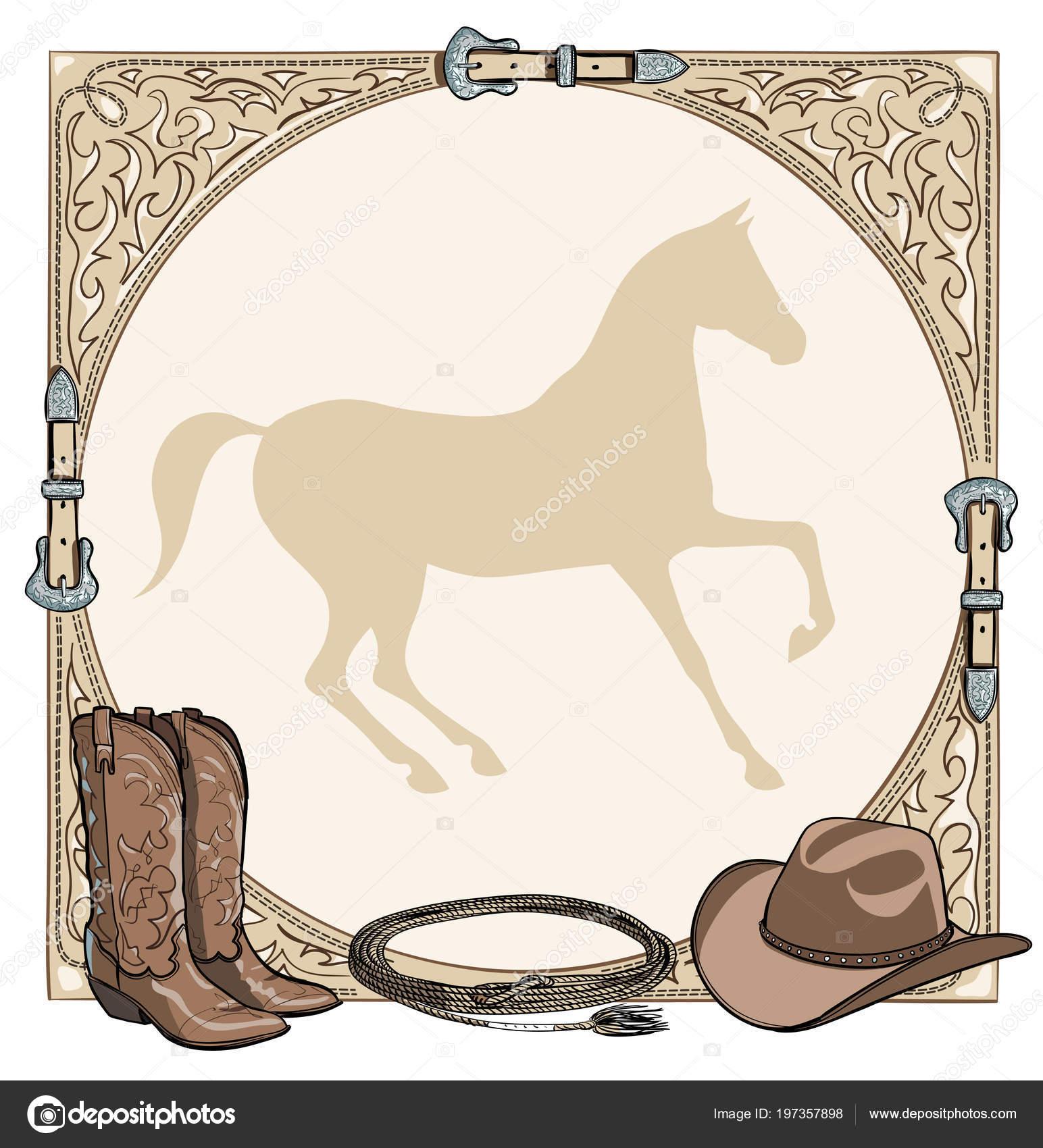 Cowboy Pferd Pferde Reiten Tack Tool Der Westlichen Leder Gürtel ...