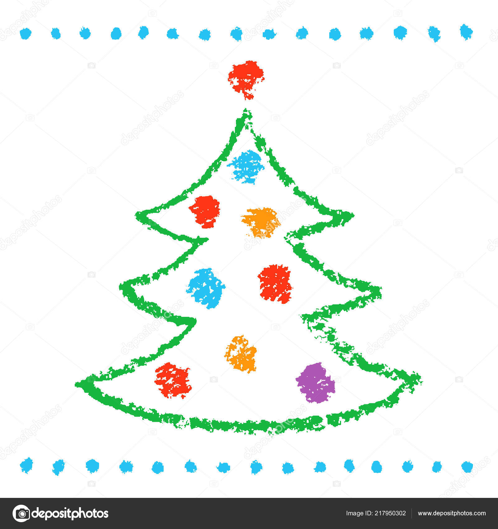 Christmas tree drawing for kids
