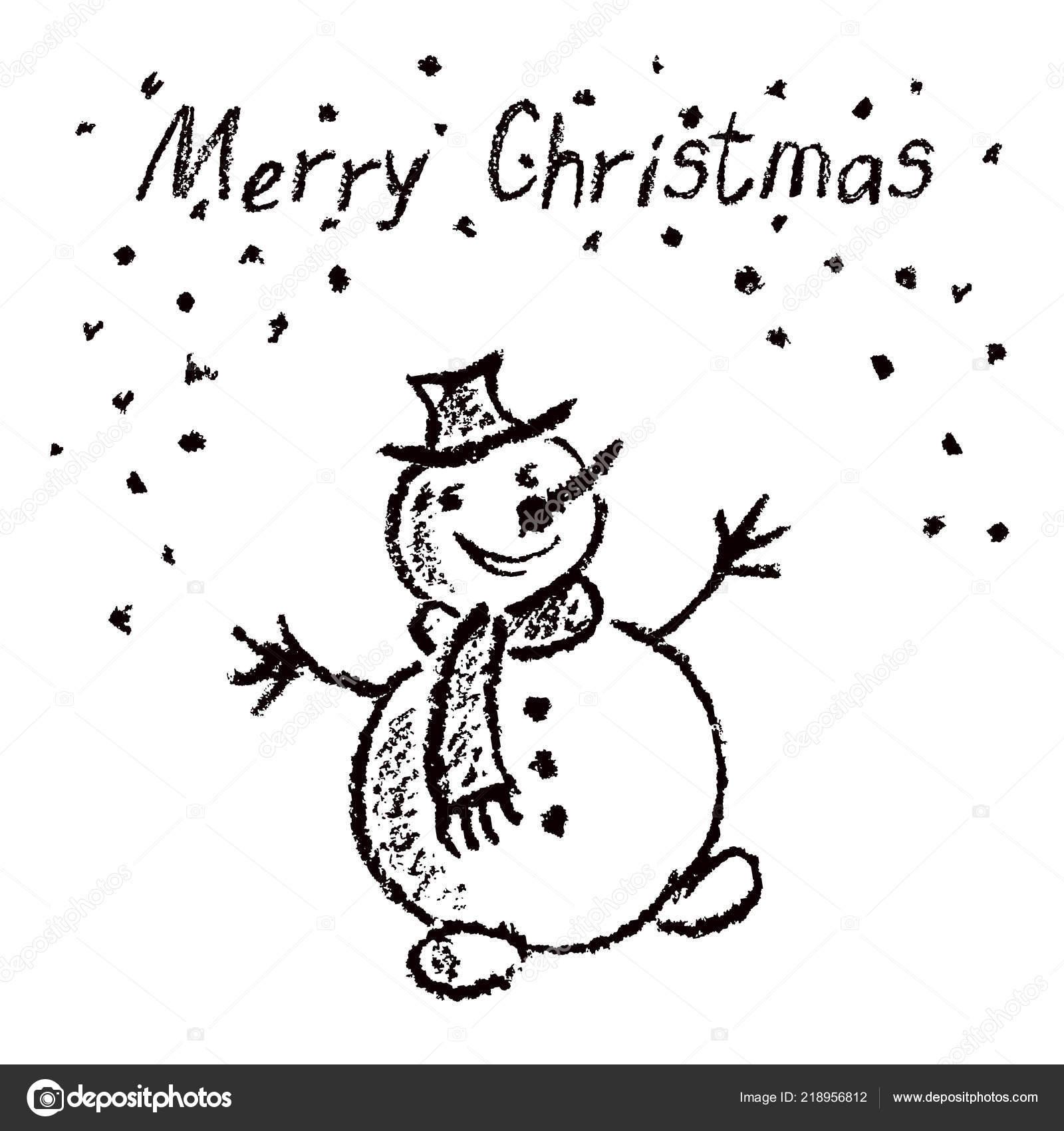 Colorie Comme Enfant Dessin Joyeux Noël Drôle Bonhomme Neige