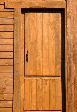 wood door in town