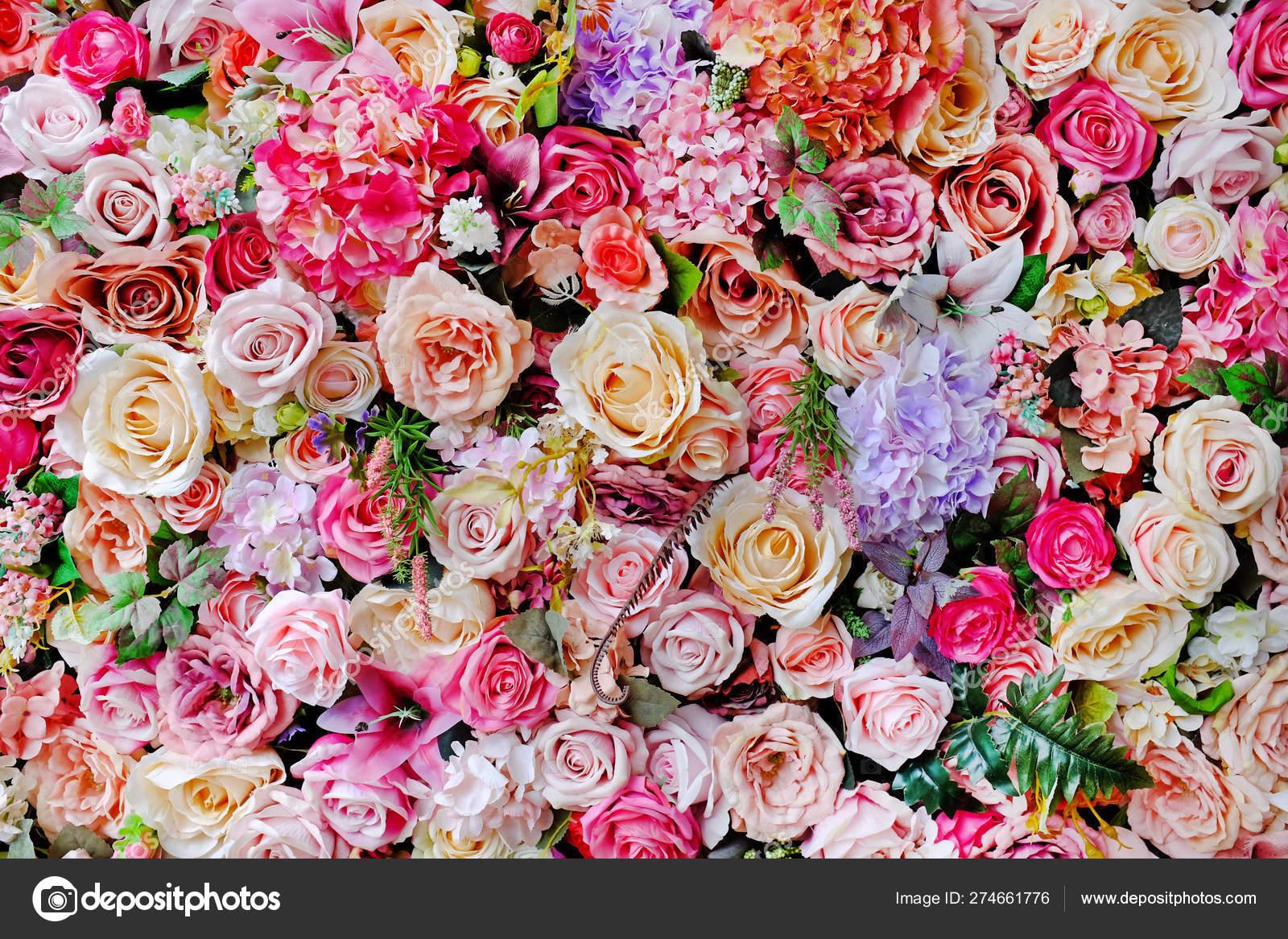 Beautiful Colors Plastic Rose Lilly Flower Bouquet Different Flowers Decorative Stock Photo C Civic Dm Hotmail Com 274661776