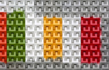 Colorful of abstract seamless brick wall