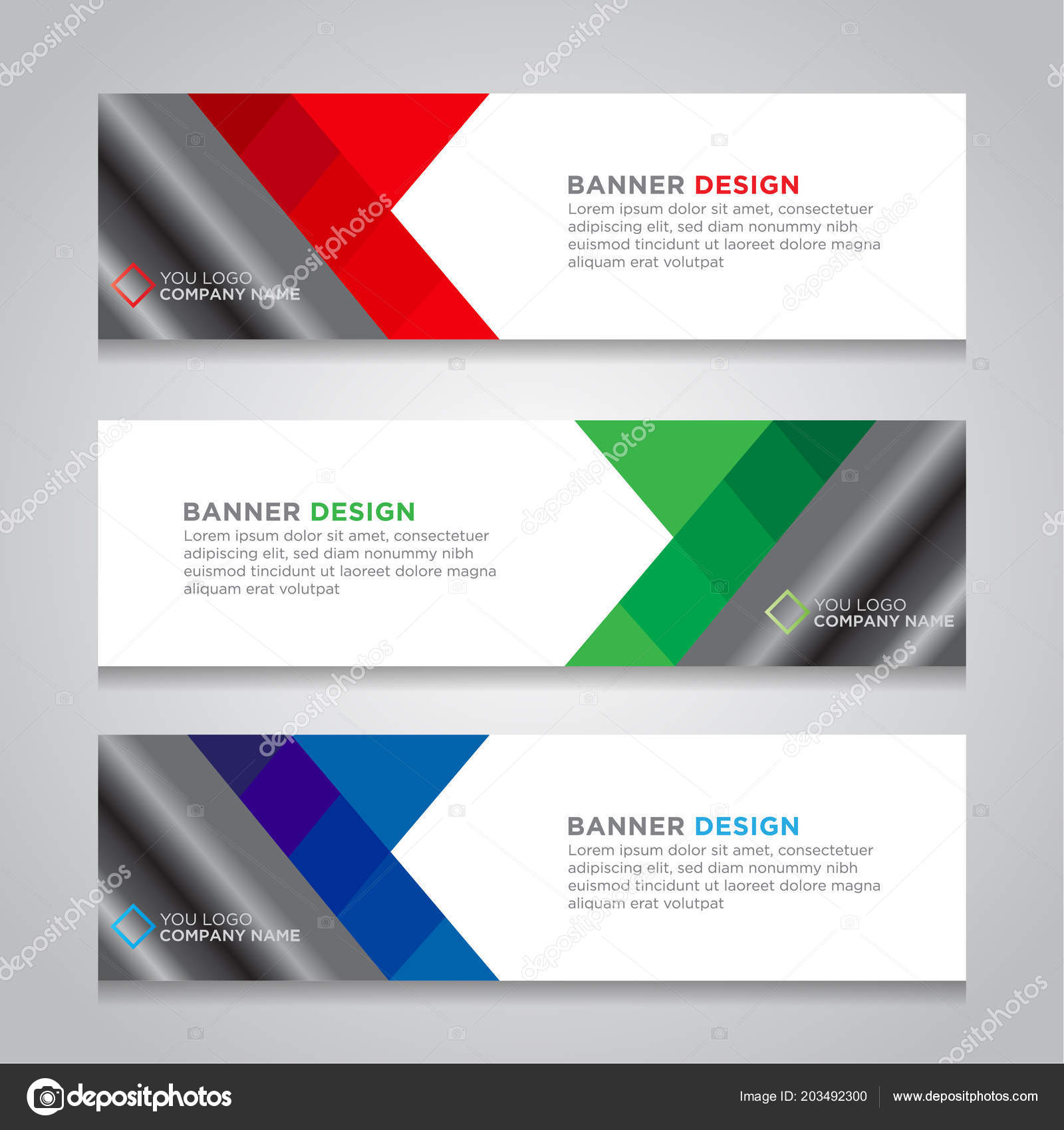 Abstract Web Banner Design Background Header Templates Stock