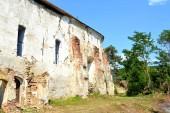 Romjai. Erődített középkori Szász evangélikus templom a falu Felmer, Felmern, Erdély, Románia. A település a Szász telepesek a tizenkettedik század közepén alapította