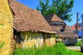 Jellegzetes vidéki táj és paraszti házak Roades községben (Radeln), Erdélyben, Romániában. A települést a Szász telepesek alapították a 12-edik század közepére.