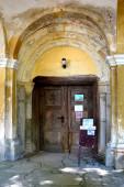 Erődített középkori szász evangélikus templom Cincu faluban, Grossschenk, Erdély, Románia. A települést a szász telepesek alapították a 12. század közepén.