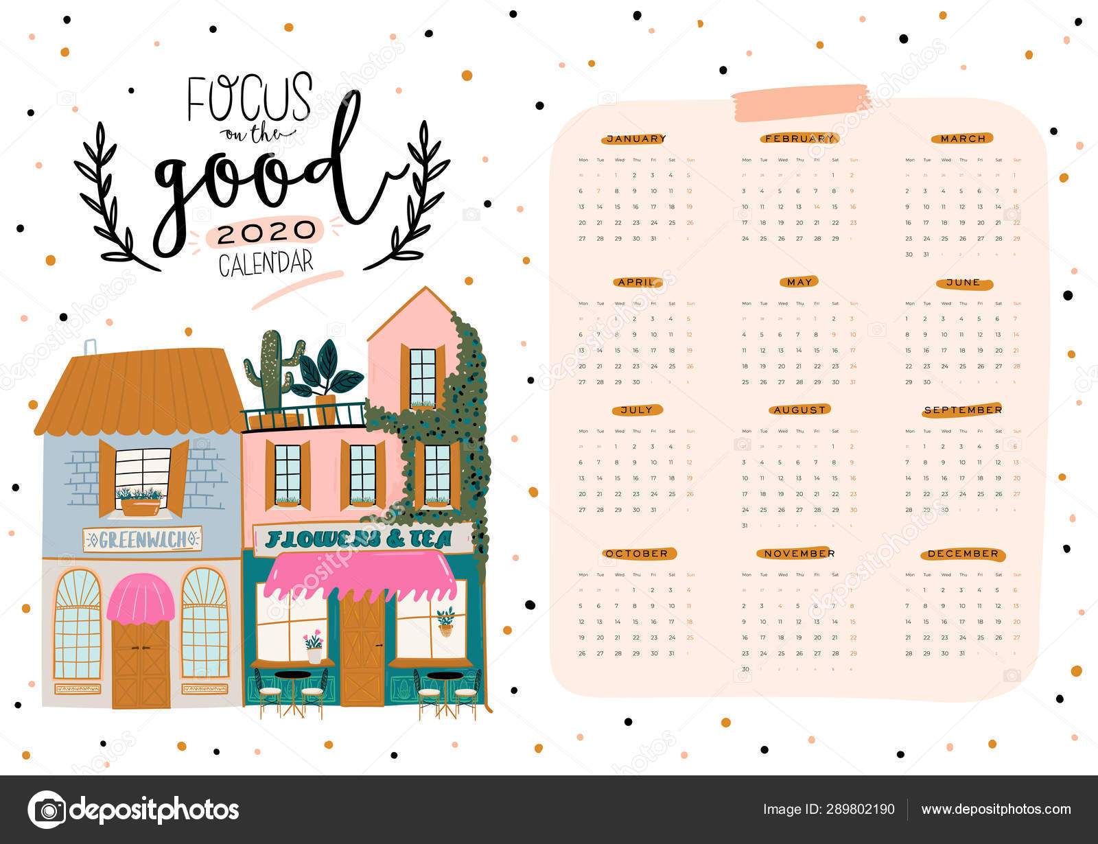 Calendario 2020 Planner.Wall Calendar 2020 Yearly Planner All Months Good Organizer